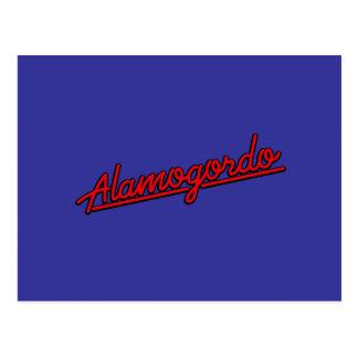 Cartão Postal Alamogordo no vermelho