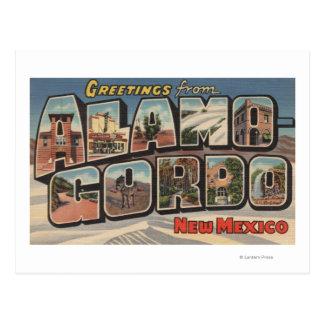 Cartão Postal Alamongordo, New mexico - grandes cenas da letra