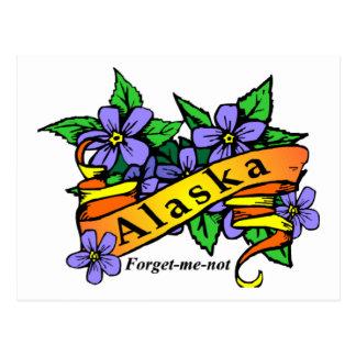 Cartão Postal Alaska esquece-me não