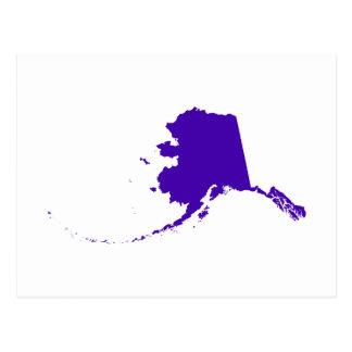 Cartão Postal Alaska no roxo