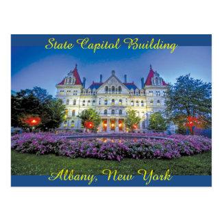Cartão Postal Albany, construção do Capitólio de NY