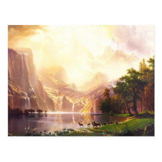 Cartão Postal Albert Bierstadt entre a serra Nevada