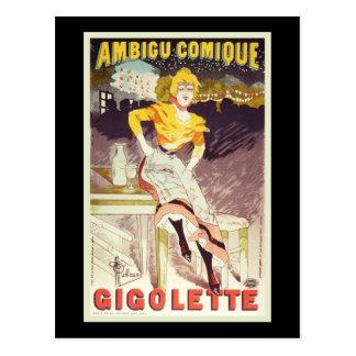 Cartão Postal Albert Guilherme Ambigu Comique Gigolette