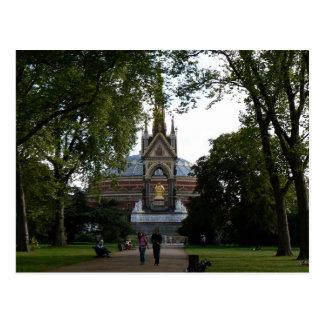 Cartão Postal Albert real Salão e memorial do príncipe Albert