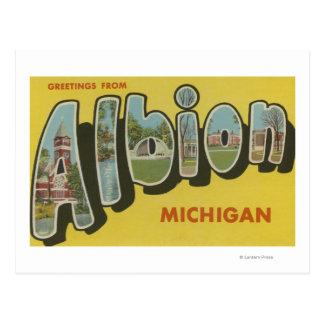 Cartão Postal Albion, Michigan - grandes cenas da letra