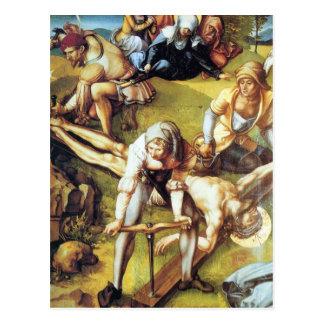 Cartão Postal Albrecht Durer - a dor de sete Marys - que prega
