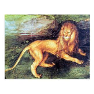 Cartão Postal Albrecht Durer - leão