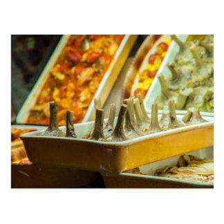Cartão Postal Alcachofras, prontos para comer