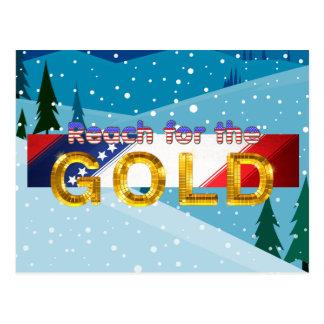 Cartão Postal Alcance SUPERIOR para o ouro
