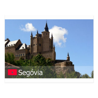 Cartão Postal Alcazar de Segóvia, Espanha