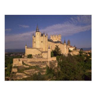 Cartão Postal Alcazar e catedral, Segovia, Castile Leon,