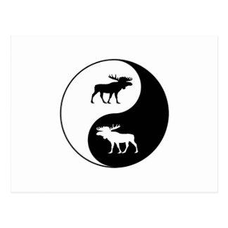 Cartão Postal Alces de Yin Yang