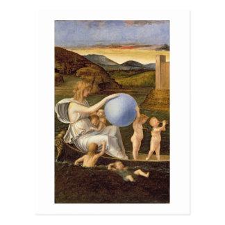 Cartão Postal Alegoria da fortuna em mudança, ou melancolia