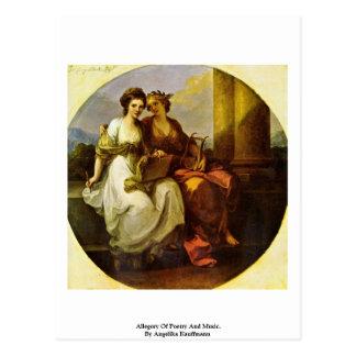 Cartão Postal Alegoria da poesia e da música. Por Angelika