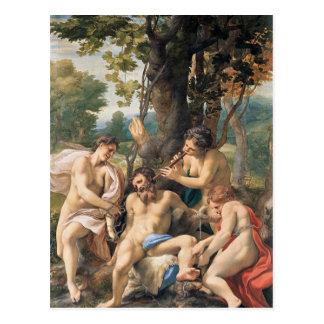 Cartão Postal Alegoria dos vícios por Correggio