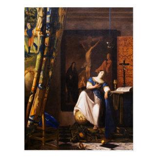 Cartão Postal Alegoria na fé por Johannes Vermeer