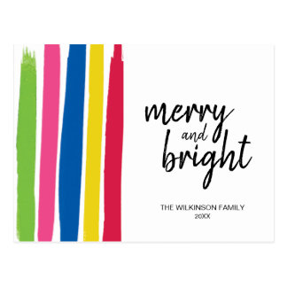 Cartão Postal Alegre e brilhante, colorido, cursos, Natal,
