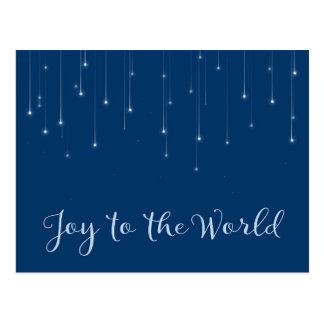 Cartão Postal Alegria à noite estrelado do mundo