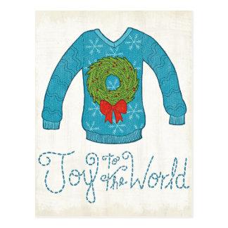 Cartão Postal Alegria ao mundo - camisola de Apple selvagem | do