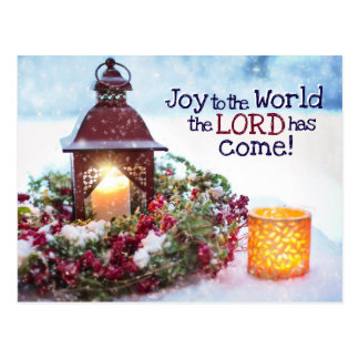 Cartão Postal Alegria ao mundo, canção de natal do Natal