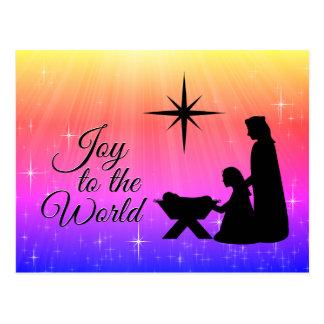 Cartão Postal Alegria ao mundo, natividade do Natal