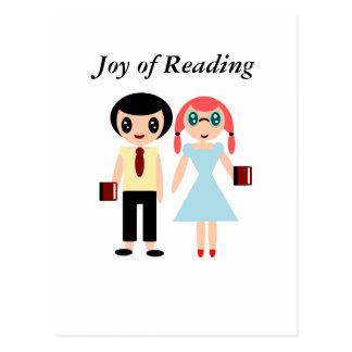 Cartão Postal Alegria da leitura