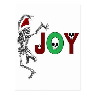 Cartão Postal Alegria de esqueleto