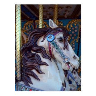 Cartão Postal Alegria do cavalo do carrossel