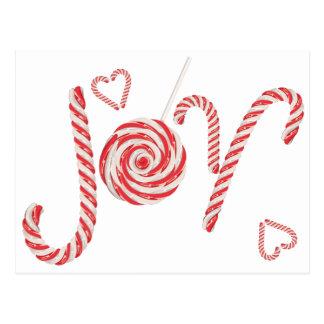 Cartão Postal Alegria Word2 dos doces