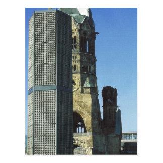 Cartão Postal Alemanha, Berlim, Kurustendamm, Wilhelm Kirche