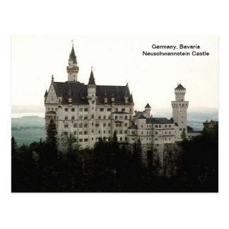 Cartão Postal Alemanha, castelo de Baviera Neuschwannstein