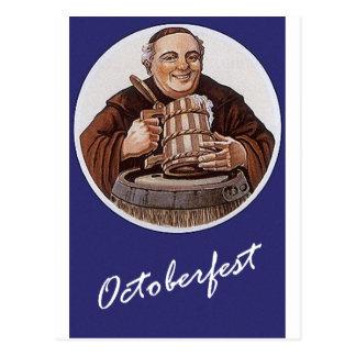 Cartão Postal Alemão Baviera Octberfest das viagens vintage do