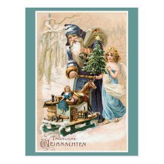 Cartão Postal Alemão do vintage de Frohliche Weihnachten