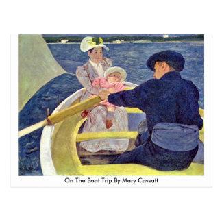 Cartão Postal Alemão na viagem do barco por Mary Cassatt