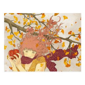 Cartão Postal Alemão para o outono