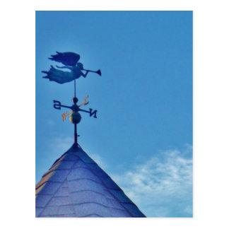 Cartão Postal ALETA de TEMPO de SOPRO do CHIFRE do anjo