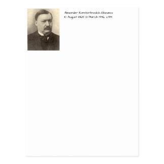 Cartão Postal Alexander Konstamtinovich Glazunov c1913