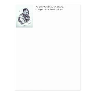 Cartão Postal Alexander Konstantinovich Glazunov 1899