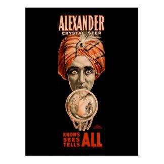 Cartão Postal Alexander que o profeta de cristal sabe vê diz