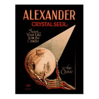 Cartão Postal Alexander vê sua vida do berço