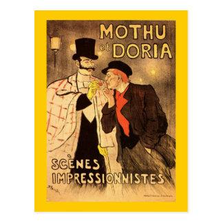 Cartão Postal Alexandre Theophile Steinlen Mothu e Doria