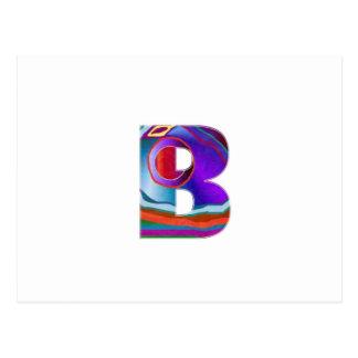 Cartão Postal ALFA BBB do alfabeto