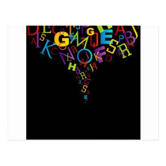 Cartão Postal Alfabetos coloridos