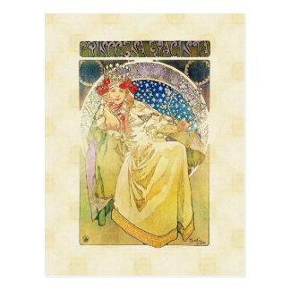 Cartão Postal Alfons Mucha Princezna 1911 Hyacinta