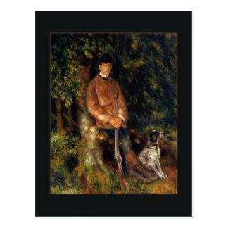 Cartão Postal Alfred Berard e seu cão por Renoir