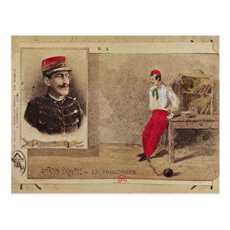 Cartão Postal Alfred Dreyfus como um prisioneiro, 1894-1906