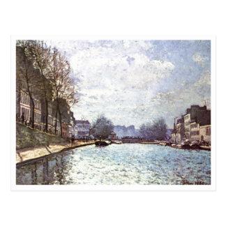 Cartão Postal Alfred Sisley - Ansicht Kanals St Martin 1870