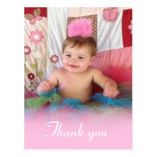 Cartão Postal Algodão doce cor-de-rosa: Obrigado da imagem você