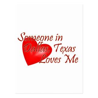 Cartão Postal Alguém ama-me em Dallas, Texas