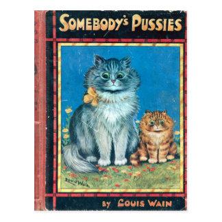 Cartão Postal Alguém bichanos pelo artista Louis Wain